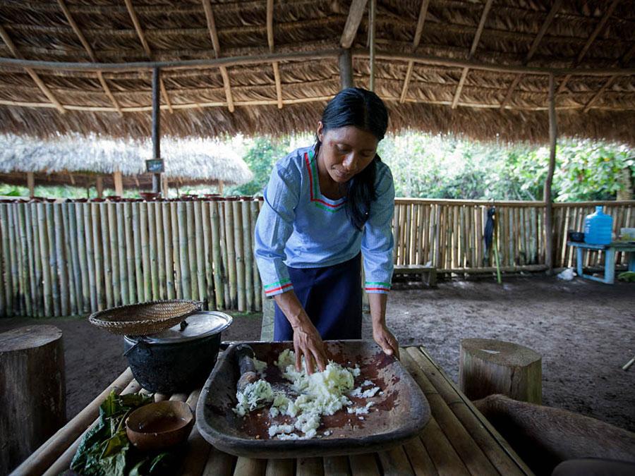 preparation chicha yuca