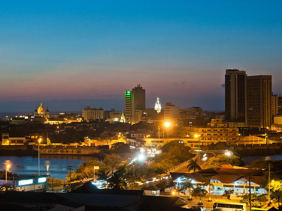Cartagena en la noche